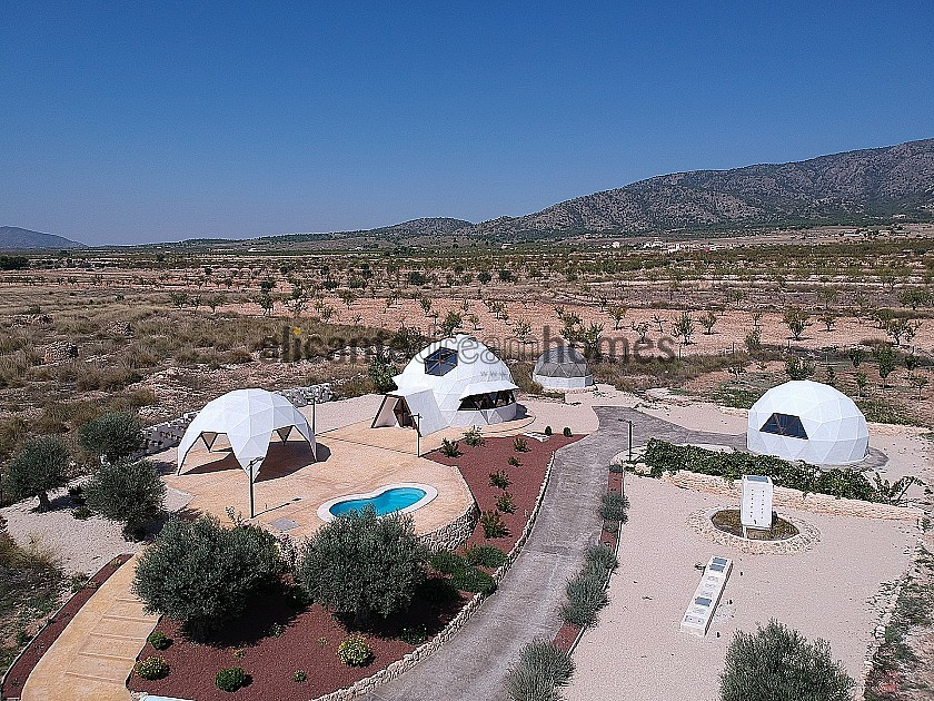 New Eco Dome modern detached villa with a pool, terrace and garage in Alicante Dream Homes
