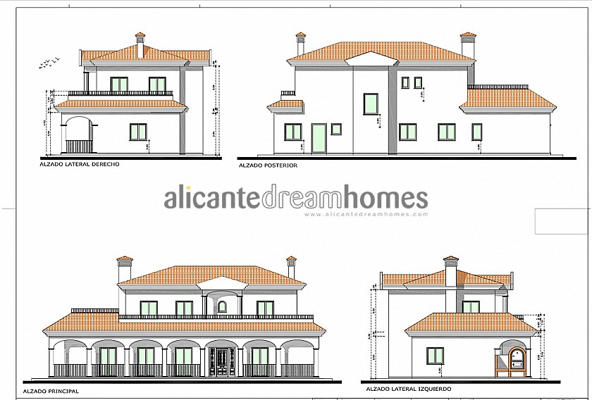 Luxury New Villa with Pool €298,995 inc. land, licences & legalities in Alicante Dream Homes