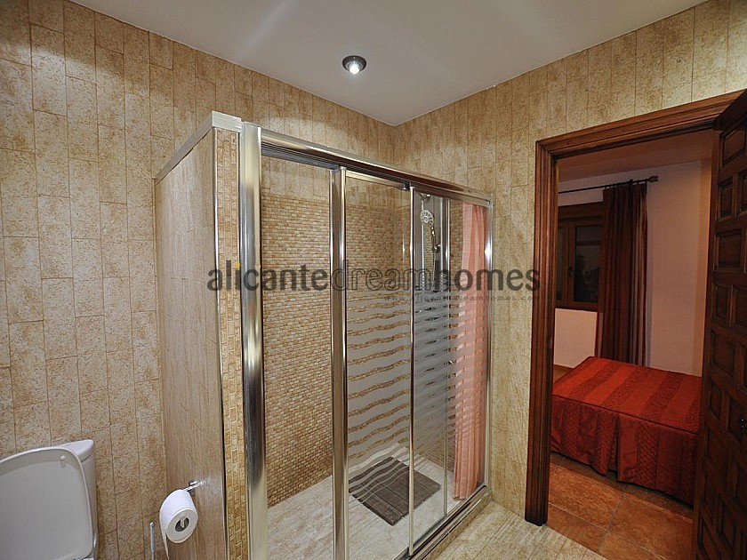 Large 4 Bedroom quality rustic home with pool and tennis court in Sax in Alicante Dream Homes