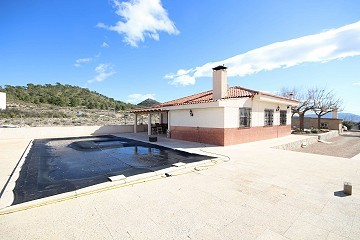 Detached Villa between Monovar and Pinoso with a pool, guest house and great views