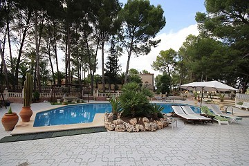 Three houses on one plot and a lovely swimming pool area, walking distance to Monovar